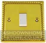 Monarch Roped Polished Brass Rocker Light Switches